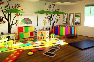 светлая сенсорная комната в детском саду